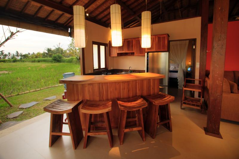 Villa kitchen, but you don't have to cook, if you don't want to!