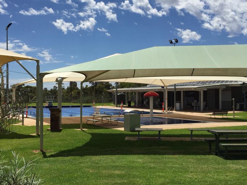 La piscina Quorn y War Memorial Distrito. Abierta en los meses de verano