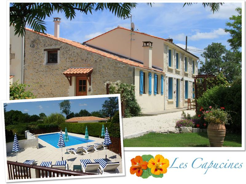C18th Charentaise Farmhouse with Large Pool near La Rochelle and Ile de Re, holiday rental in Moragne