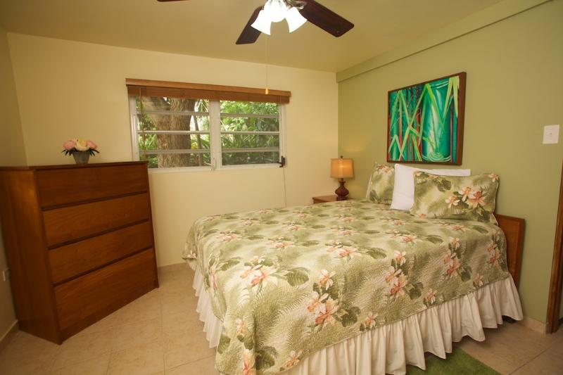 Bedroom with Queen Bed and A/C