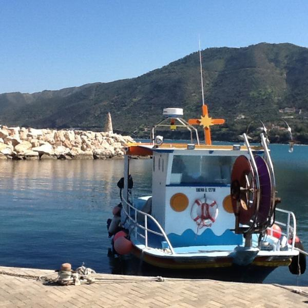 Traditional fishing boat at Pomos harbour. Approx 20km from apartment.