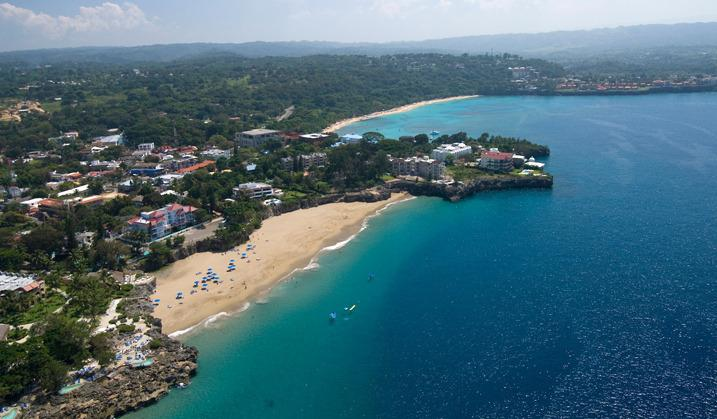 Aerial view of Sosua Beach