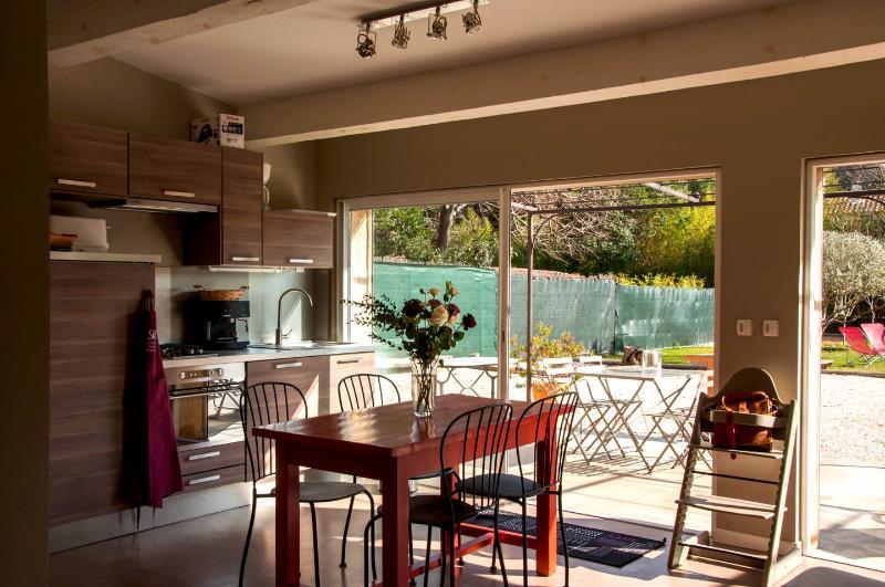 offene Küche auf der Außenseite