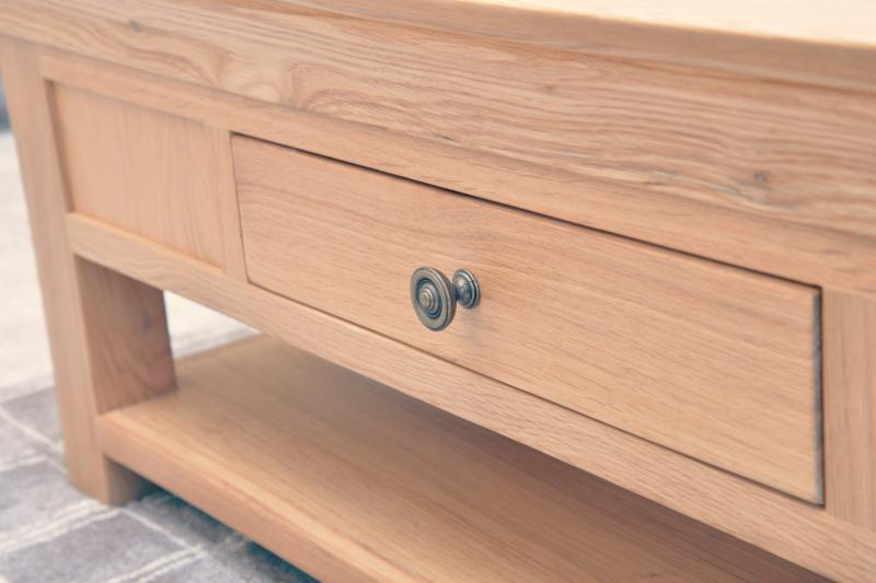 Oak furniture throughout