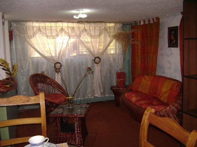 Ventanal del Fondo de la sala, tiene 3 ambientes en total el apartamento, en la entrada en hall.