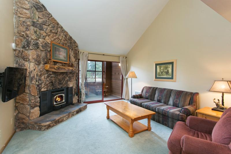 Aspen Creek #318 Living Area Has High Ceilings, LED tv, and WIFI