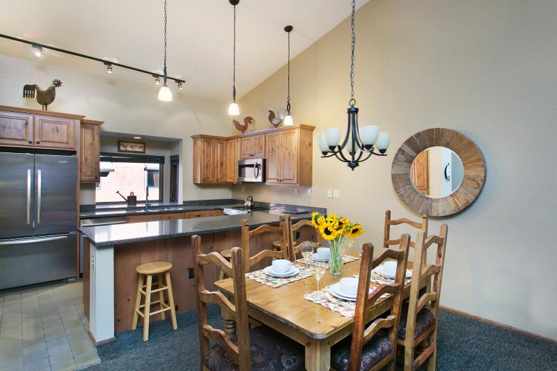 Dining Area That Seats Six And A Fully Equipped Kitchen