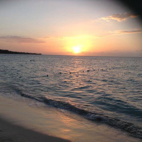 impresionante puesta de sol de Negril!