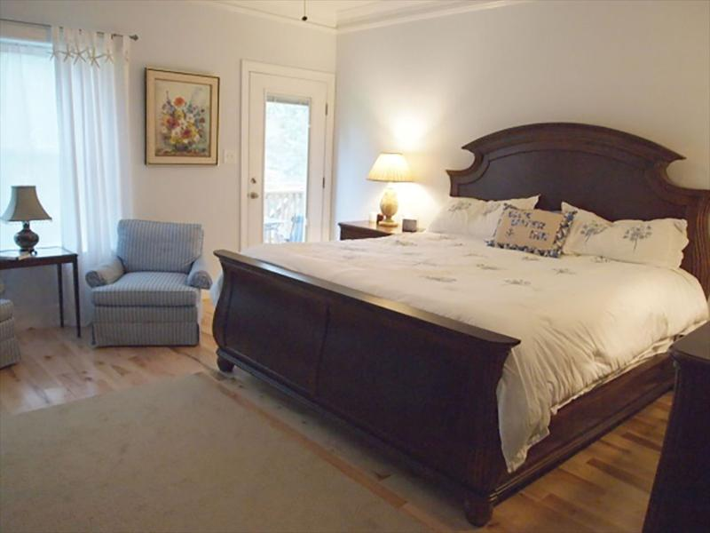Master Bedroom with access to screened in porch