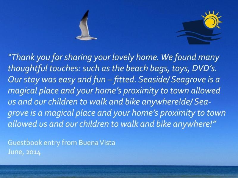 Buena Vista Gastenboek Entry