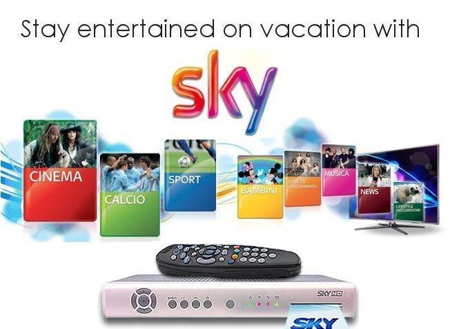 Fica entretido em férias. Nossa TV tem canais Premium Sky TV gratuitamente.