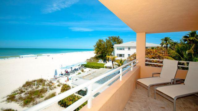 Balcony view- Pristine beaches and azure waters of the Gulf
