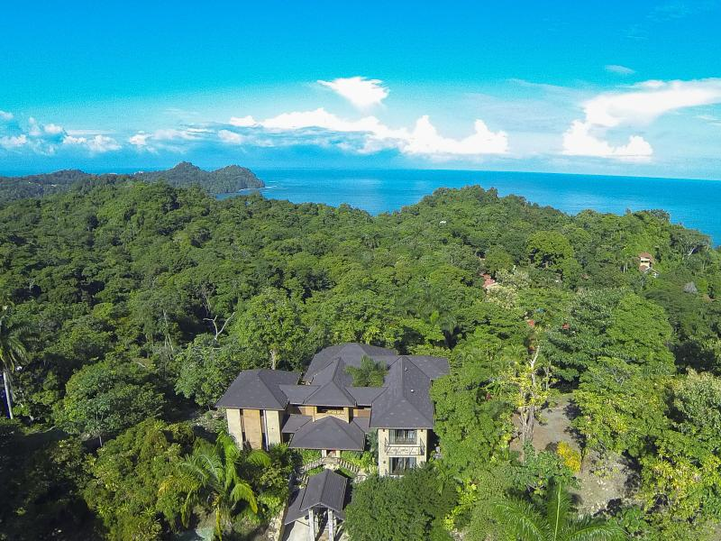 Aerial View of Villa Paraiso with the Manuel Antonio Coastline