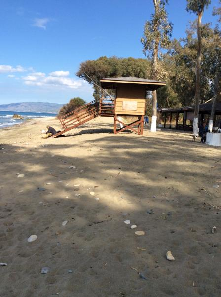Polis campsite beach with beach taverna. Accessed via forest campsite. Approx 2km from apartment