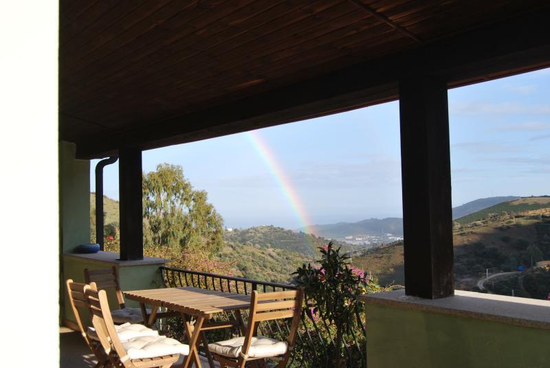 Rainbow on the porch