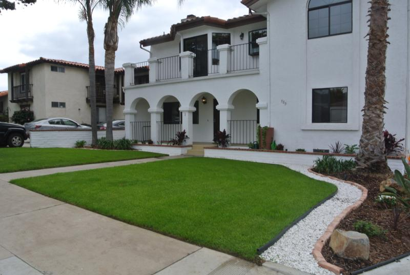 Front unit with private access to this first floor condo