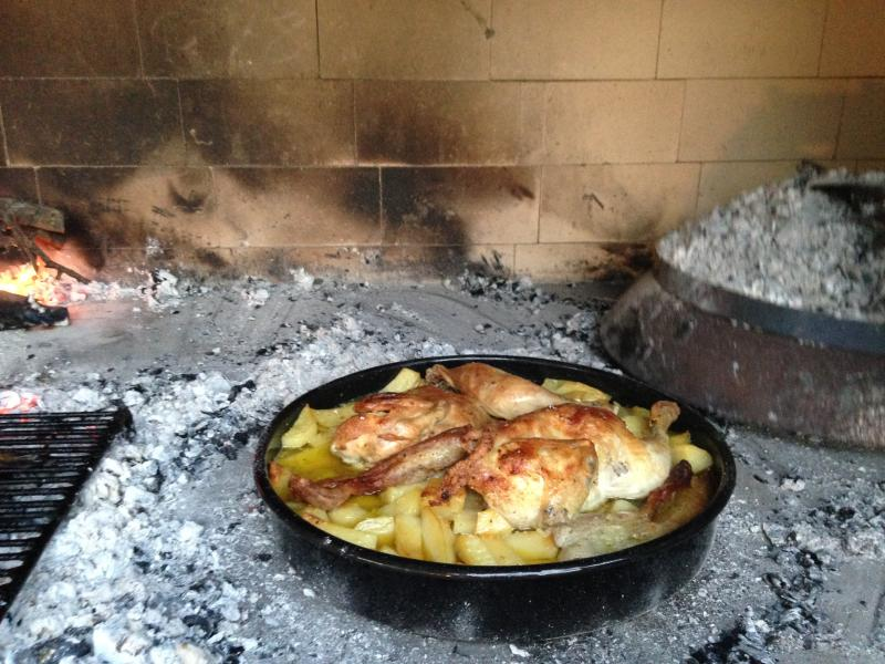 in our outdoor grill you can prepare meals from meat...