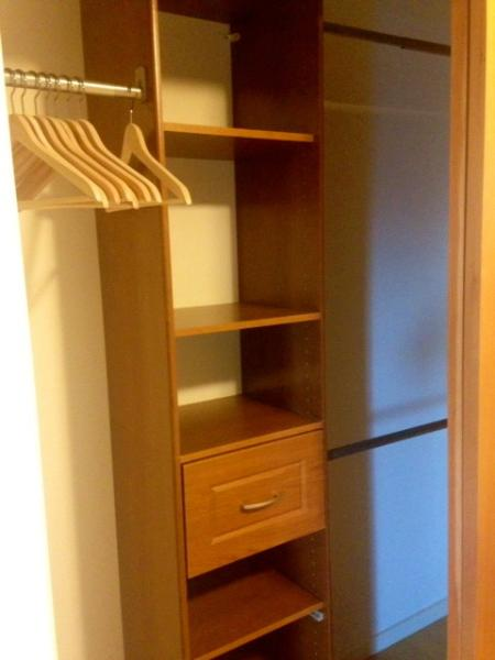 Ample closet space in the bedroom