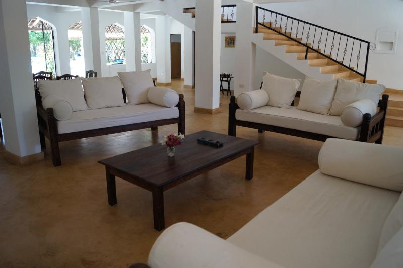 The open plan lounge dining room