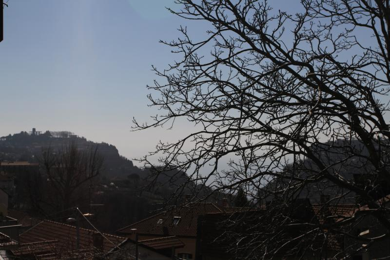 paysage vu de la terrasse sur la mer Amalfi