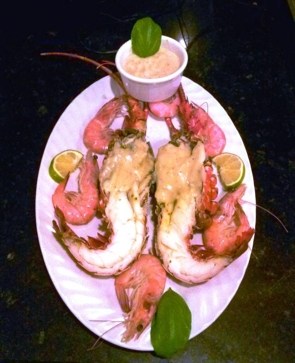 Lobsters from the rock , prepared at home