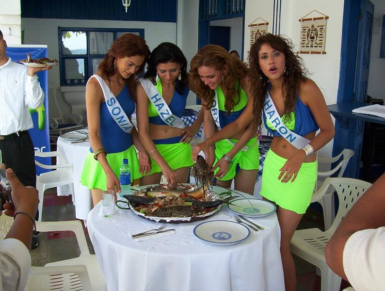 Skaldjur part för skönhet drottningar, Miss Nicaragua händelse