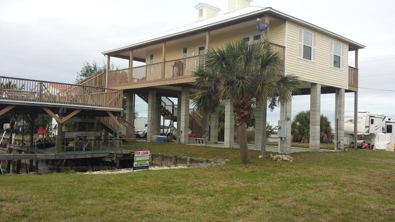 Our stilted home In Horseshoe Beach overlooking the gulf.