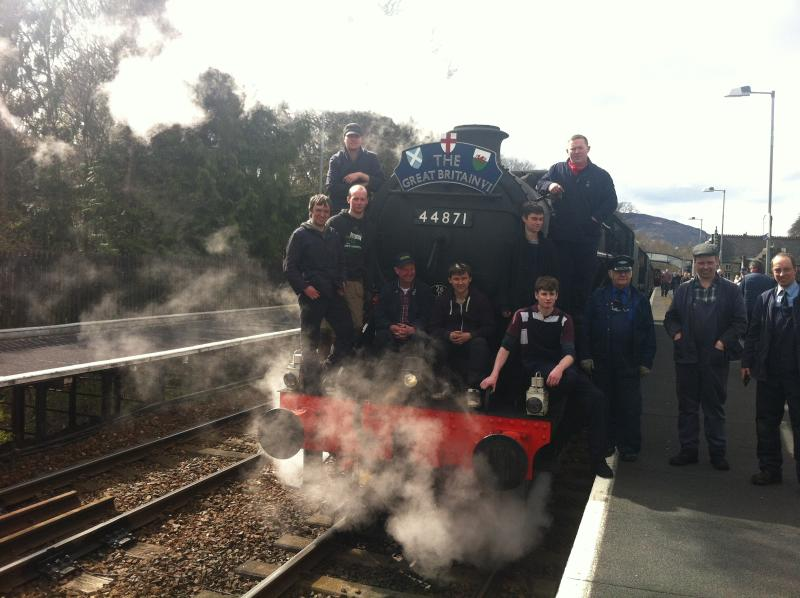 Steam Train at Pitlochry Station