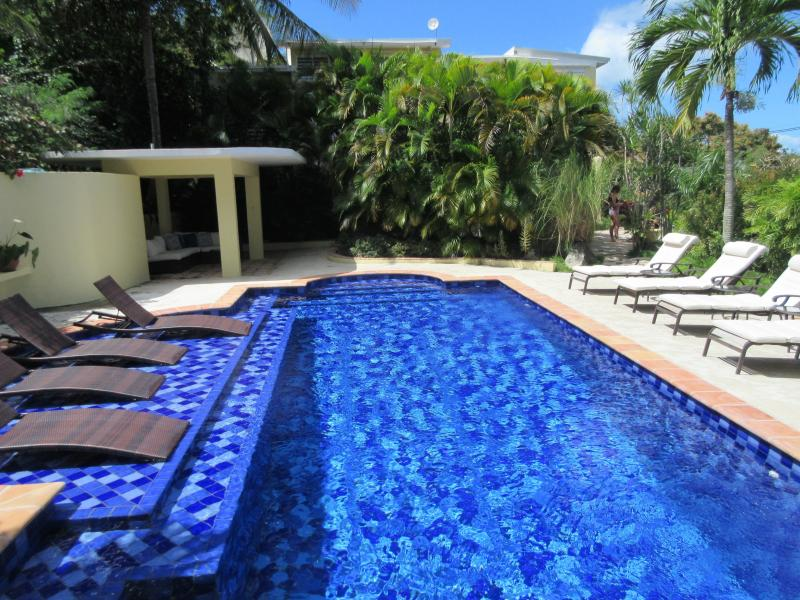 Our newly renovated pool offers plenty of places to sit - both in and out of the water.