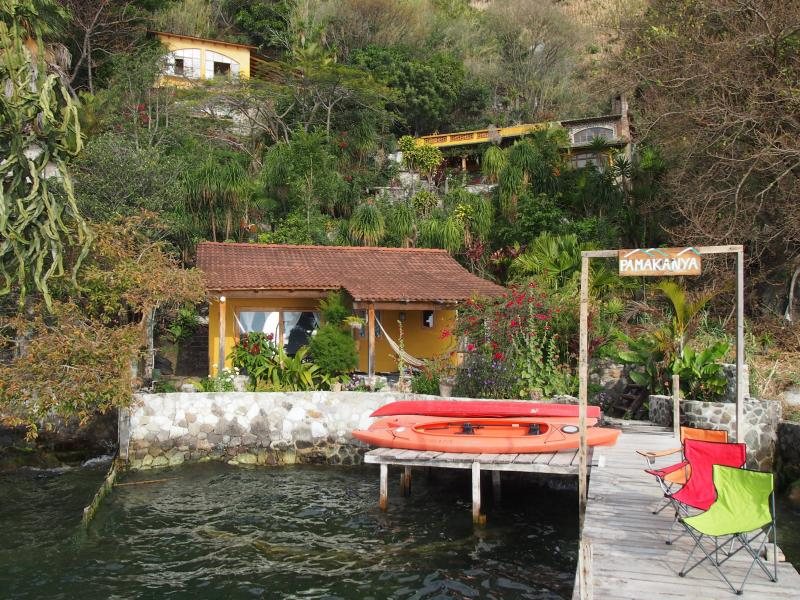 Pamakanya-Lush Gardens, Volcano Views, Lake Front, vacation rental in Lake Atitlan
