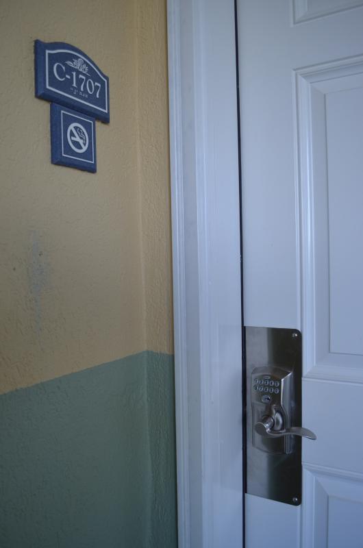 Condo entrance door with combination lock