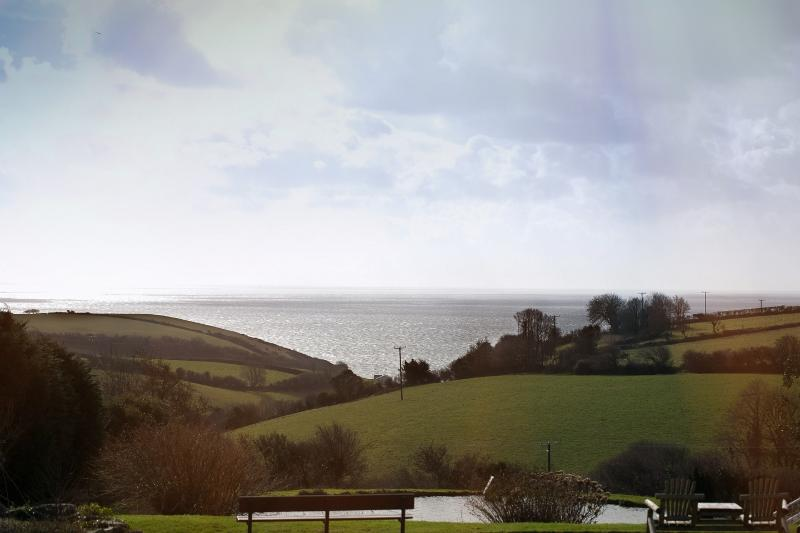 The stunning sea view from the living area