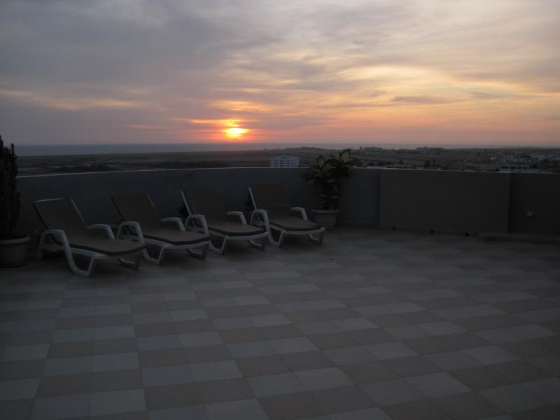 Back Terrace sunset