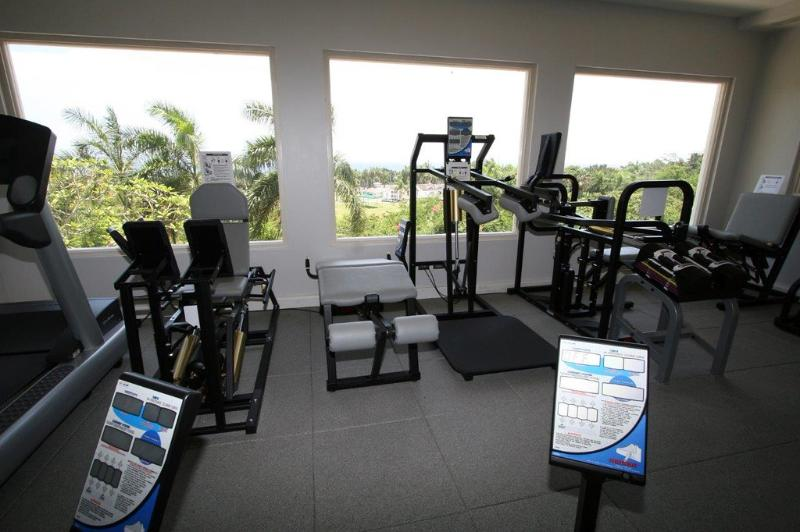 Fairway Manor has a private gym with a view.