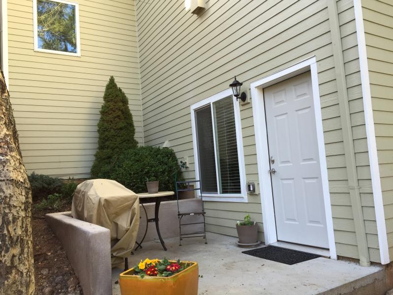 Another view of the patio with gas grill.