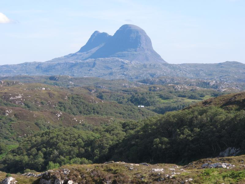 View of Suilven from the road to Lochinver