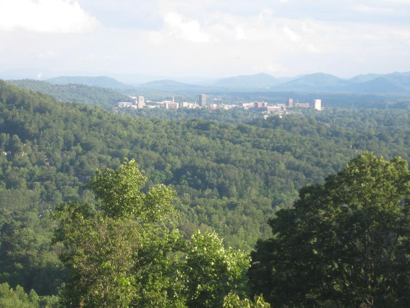 Downtown Asheville is only 5 miles away