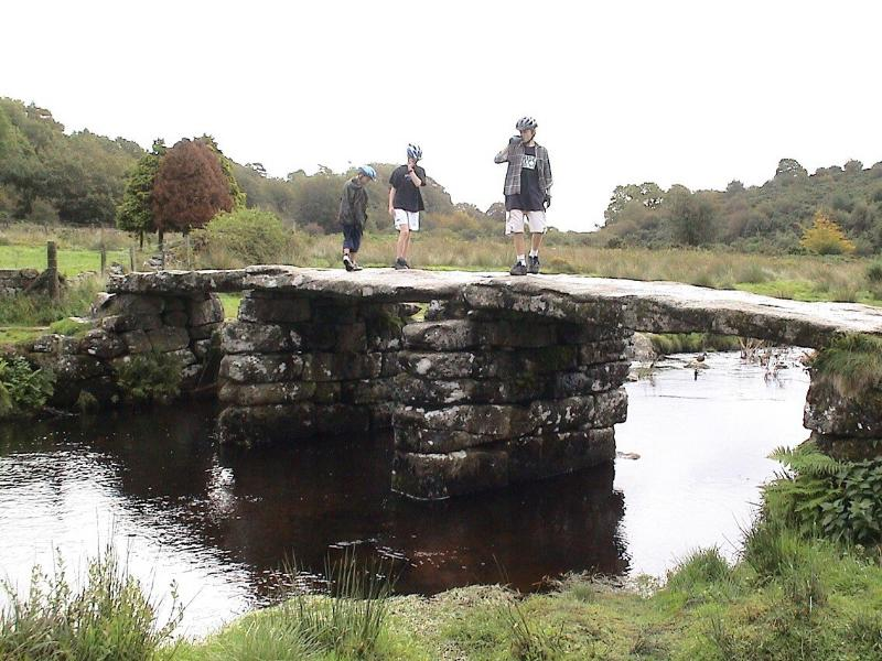 Clapper Bridge at Postbridge on Dartmoor