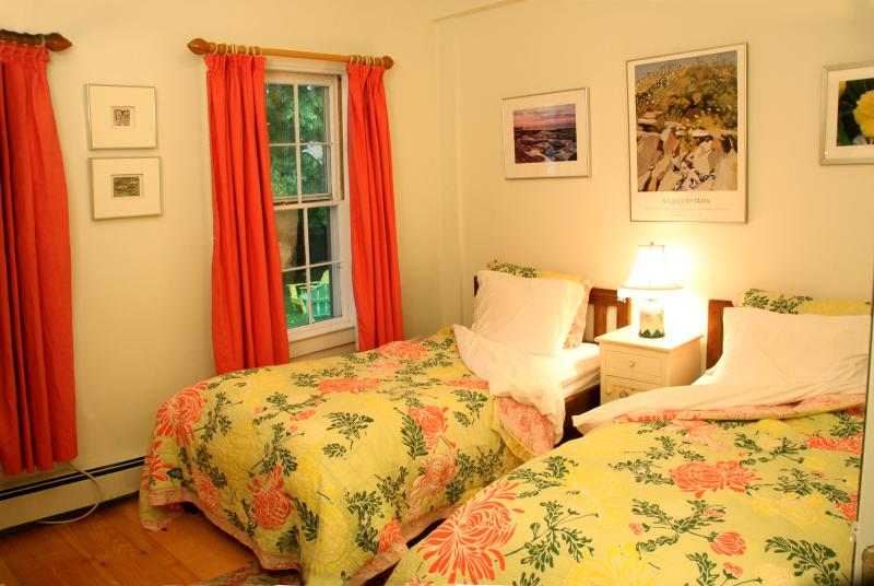 Second bedroom.  Comfortable Twin/Large Single beds.  Air conditioned. Walk-in closet.