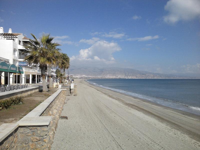 Roquetas de Mar promenade and beach, pic taken Febuary