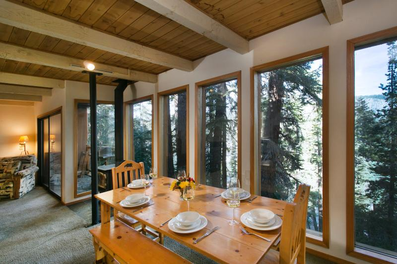 Dining Area With Floor TO Ceiling Windows That Seats Six/Eight