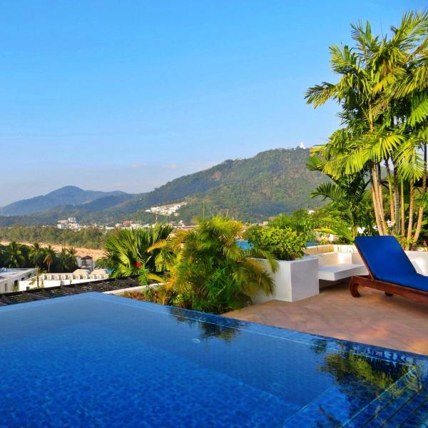 Gorgeous Private Rooftop Pool With Views Of Kata Beach
