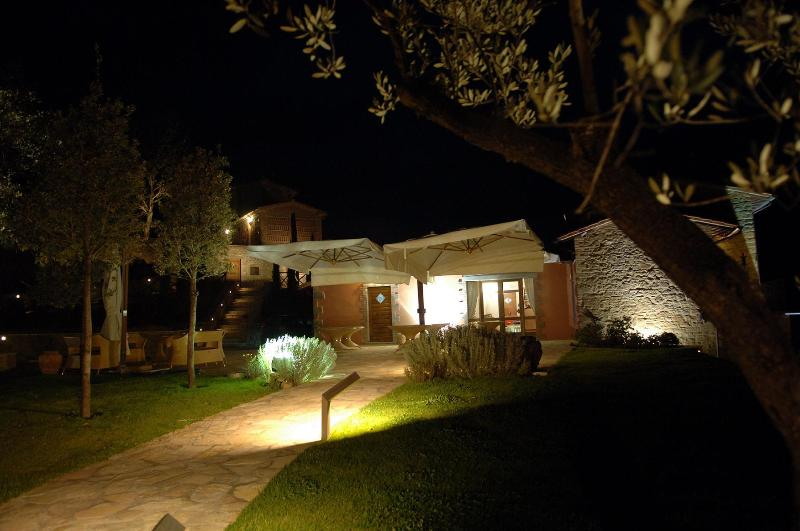 external view by night