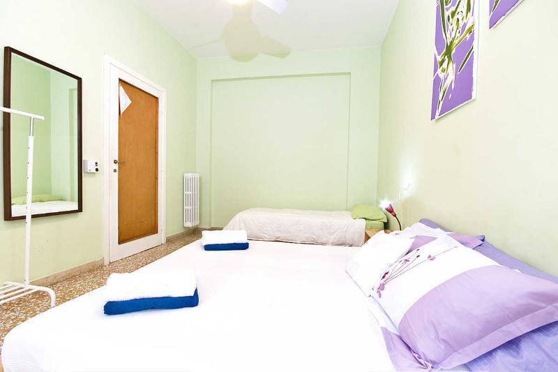 Rom-Schlaf-Startseite grüne Zimmer