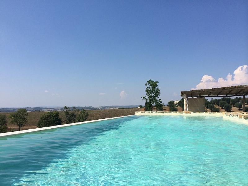 Argillosacountryhouse villa uphill in Tuscany Maremma South Region, Ferienwohnung in Manciano
