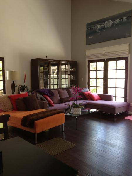 Spacious living with high end furnitures