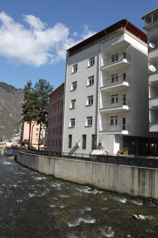 The building from the backside and the maçka rivulet...