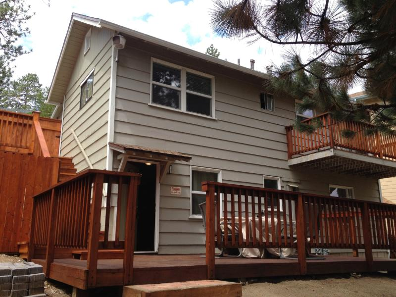 Two Bedroom/2 bath.  Fully fenced backyard for additional privacy.  Enjoy lunch or games on the deck