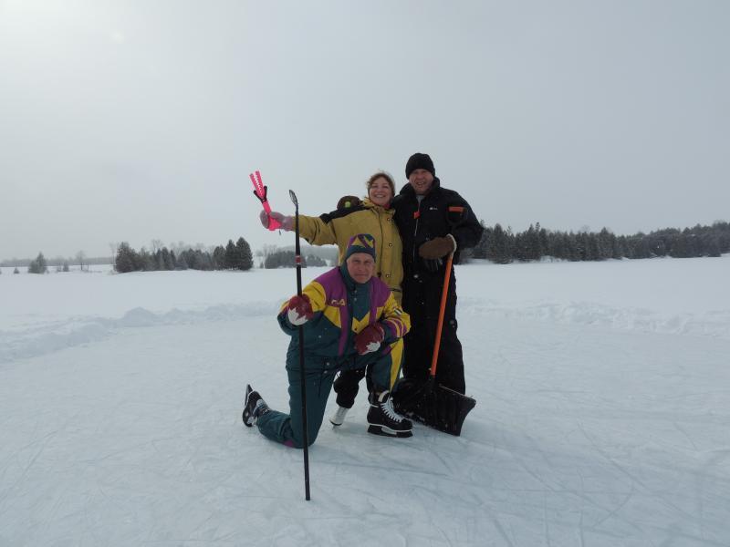 Schaatsen op het meer
