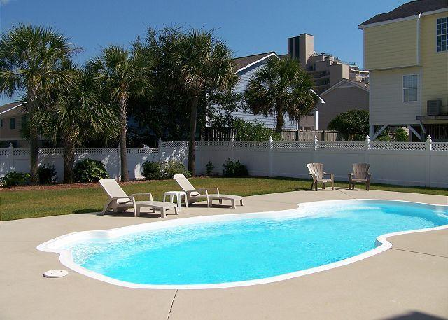 Double sized pool. Very spacious enclosed backyard.